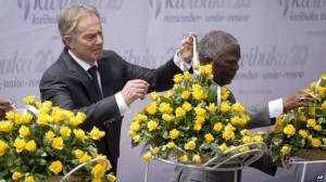 Tony Blair and Thabo Mbeki were among the foreign guests
