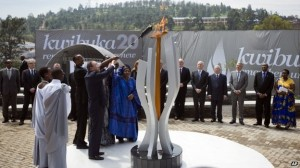 President Paul Kagame and UN chief Ban Ki-moon lit the torch