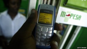 About a quarter of Kenya's gross domestic product flows through the M-Pesa mobile payment system