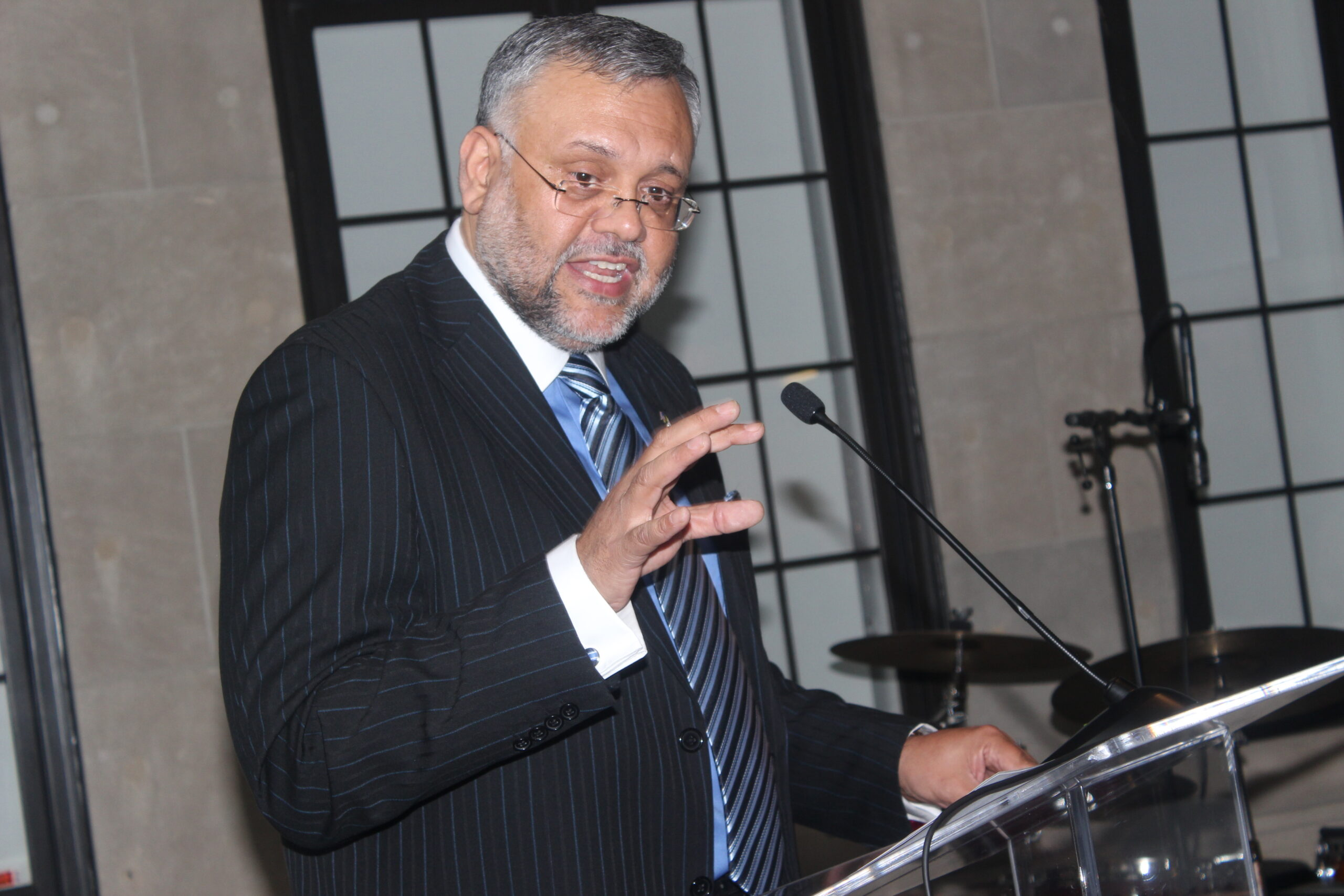 Ambassador Ebrhim Rasool delivering remarks.Photo by Ben Bangura