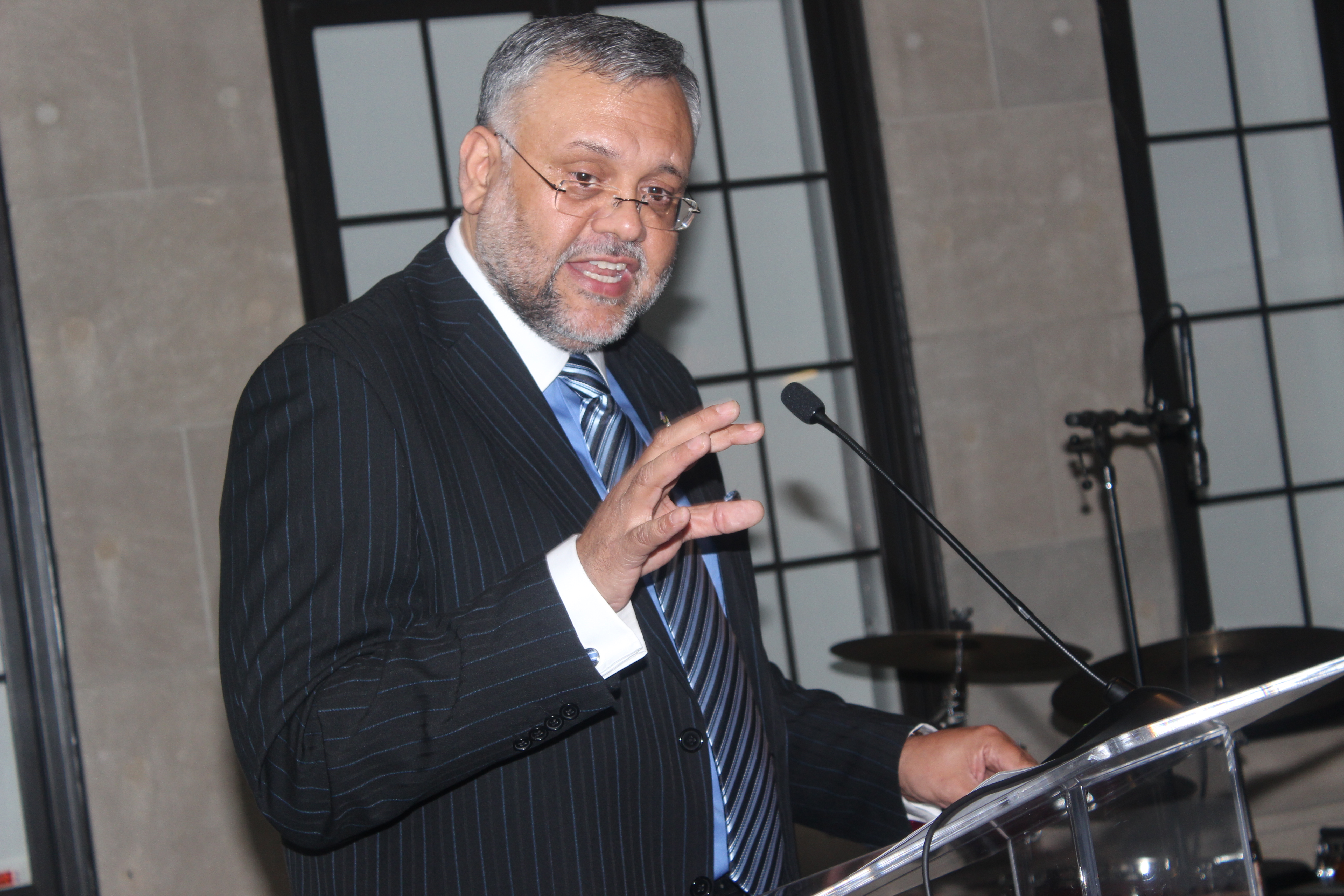 Ambassador Ebrhim Rasool delivering remarks.Photo by Ben Bangura