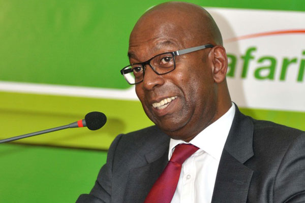 Safaricom chief executive officer Bob Collymore during a media briefing at Michael Joseph Centre where they announced Audited Results for the year ended 31st March 2014 in Nairobi. The government has contracted Safaricom to build a sophisticated Sh14.9 billion security communications system which will link all security agencies, making it easy to share information and direct operations. PHOTO/GERALD ANDERSON