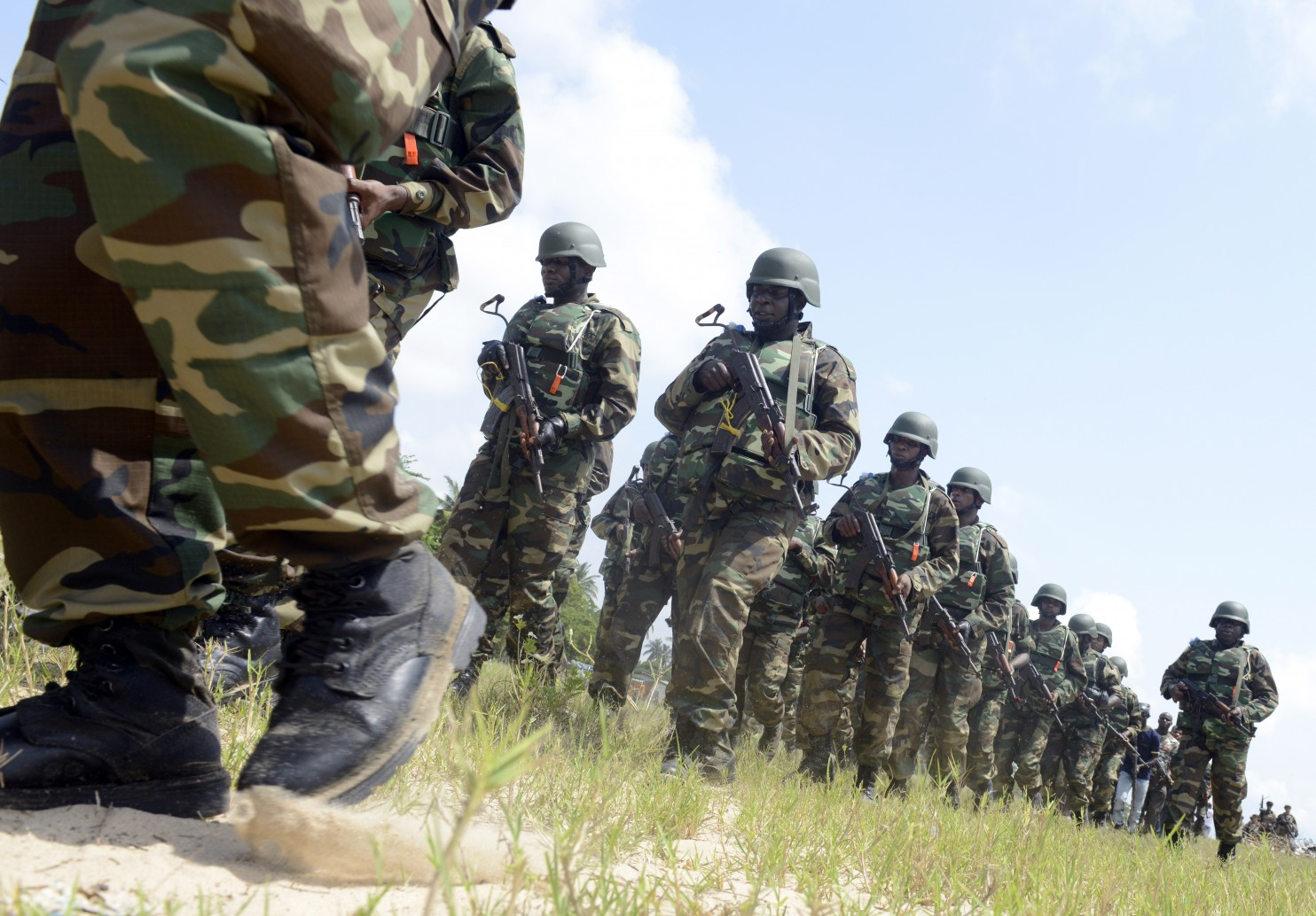 Nigeria distrusts U.S. efforts to help fight terror, while the Americans are frustrated by Nigerian military abuses. (Pius Utomi Ekpei/AFP/Getty Images)