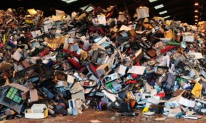 Electrical goods being legally recycled. Joe Benson illegally exporting 46 tonnes of hazardous waste to Nigeria, Ghana, the Ivory Coast and the Congo Photograph: Owen Humphreys/PA
