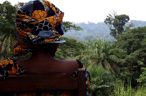 A 32-year-old woman who was raped in front of her husband and two children by Mai Mai Kifuafua fighters in Musenge village, Walikale territory in July 2013. © 2013 Human Rights Watch