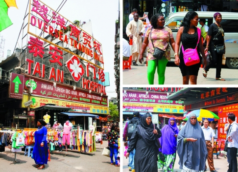 The Overseas Trading Mall, in Dengfeng village, attracts hordes of African merchants.