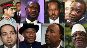 Clockwise from top left: The leaders of Egypt, Uganda, Somalia, Kenya, Mali, Niger, Nigeria and Libya are all grappling with a major terrorism challenge as a rising tide of jihadism sweeps over the continent. (Image, M&G).