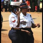 A photograph of police officer Linda Okello in a tight skirt proved controversial
