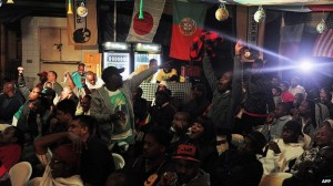 Bars in Nairobi were packed with fans watching the opening game on Thursday