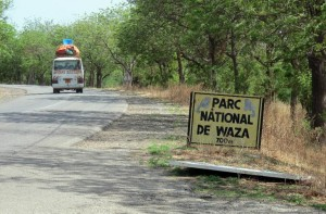 Photo taken on May 28, 2014 shows the entrance to Waza National Park, northern Cameroon, where 10 Chinese workers were abducted by Boko Haram on the night of May 16, 2014 (AFP Photo/Reinnier Kaze)