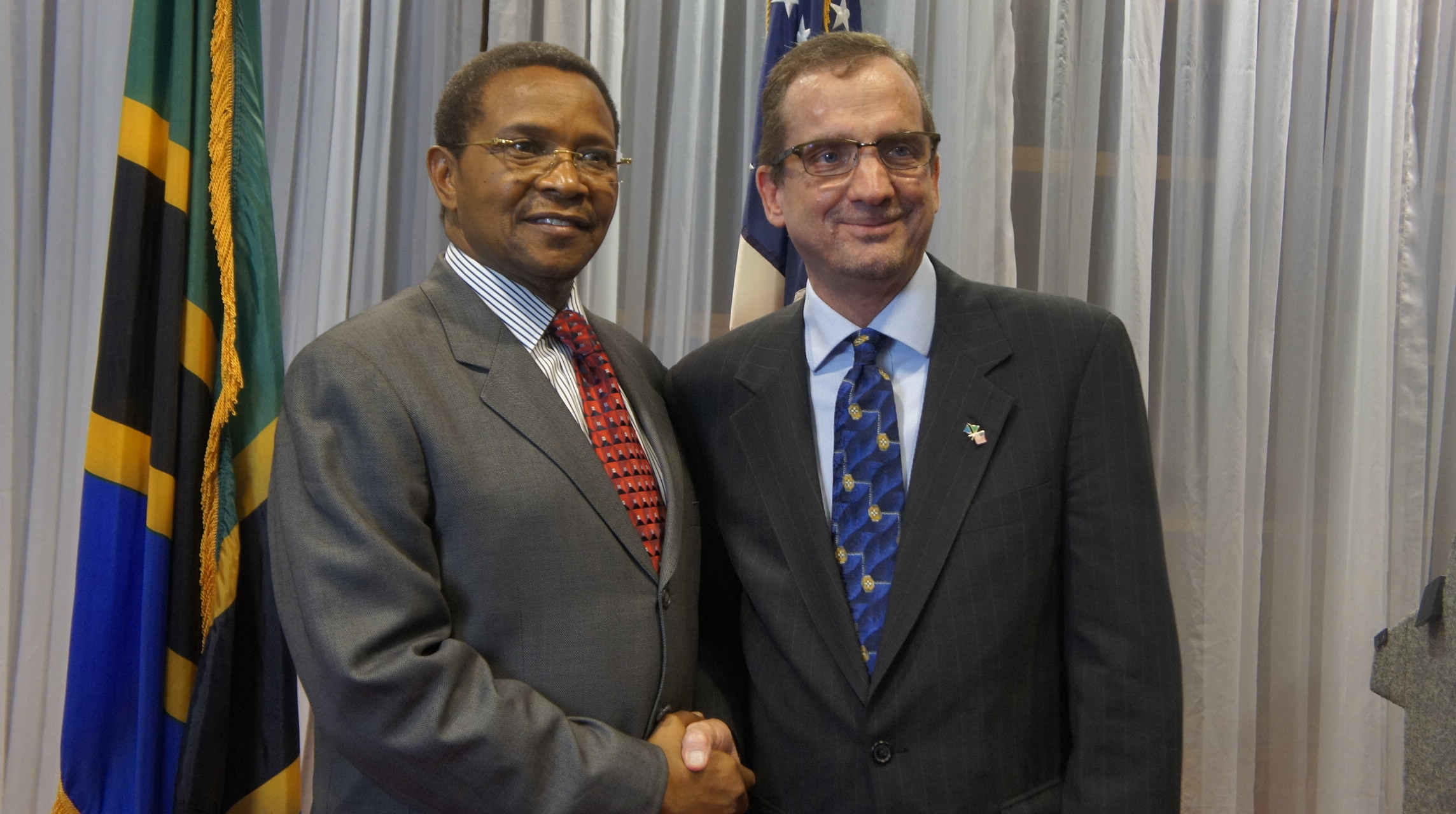 Griswold with Tanzania President Jakaya Kikwete