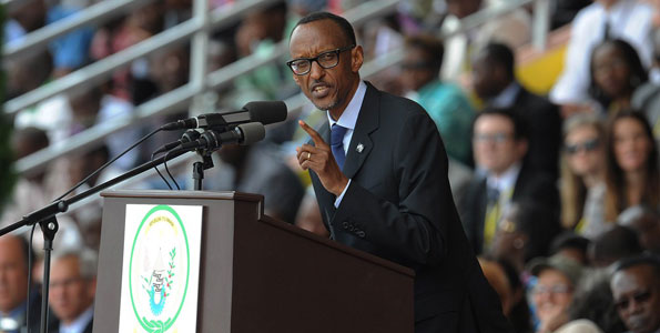 "President Paul Kagame at a past function. He has said that his country will continue to arrest or ""even shoot on the spot"" individuals who wish to destabilise Rwanda's state security. Photo/FILE