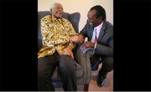 Jeff Koinange meets with the late former South African President Mandela on October 6, 2010. PHOTO/FILE
