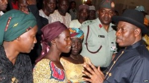 President Goodluck Jonathan has been criticised for not meeting parents earlier