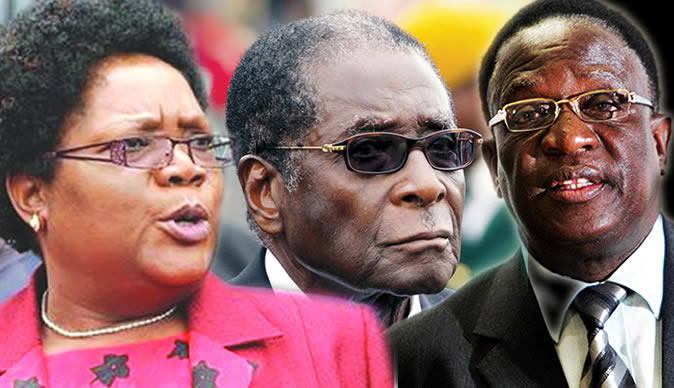 Contenders for the throne: liberation war veteran and Vice President Joice Mujuru and current Minister of Justice Emmerson Mnangagwa