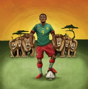 The Cameroon football team is nicknamed Les Lions Indomptables (The Indomitable Lions). Image: ESPN ad, 2010