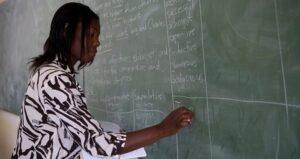 A TEACHER IN NAMIBIA. PHOTO©WORLD BANK