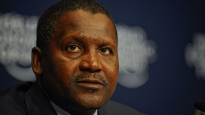 Nigerian business magnate Alhaji Aliko Dangote. As of March 2014, he had an estimated net worth of $25bn - and has also given away several millions.