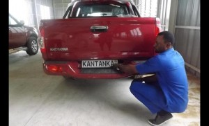 A finished Kantanka vehicle at the speed testing unit of the manufacturing plant
