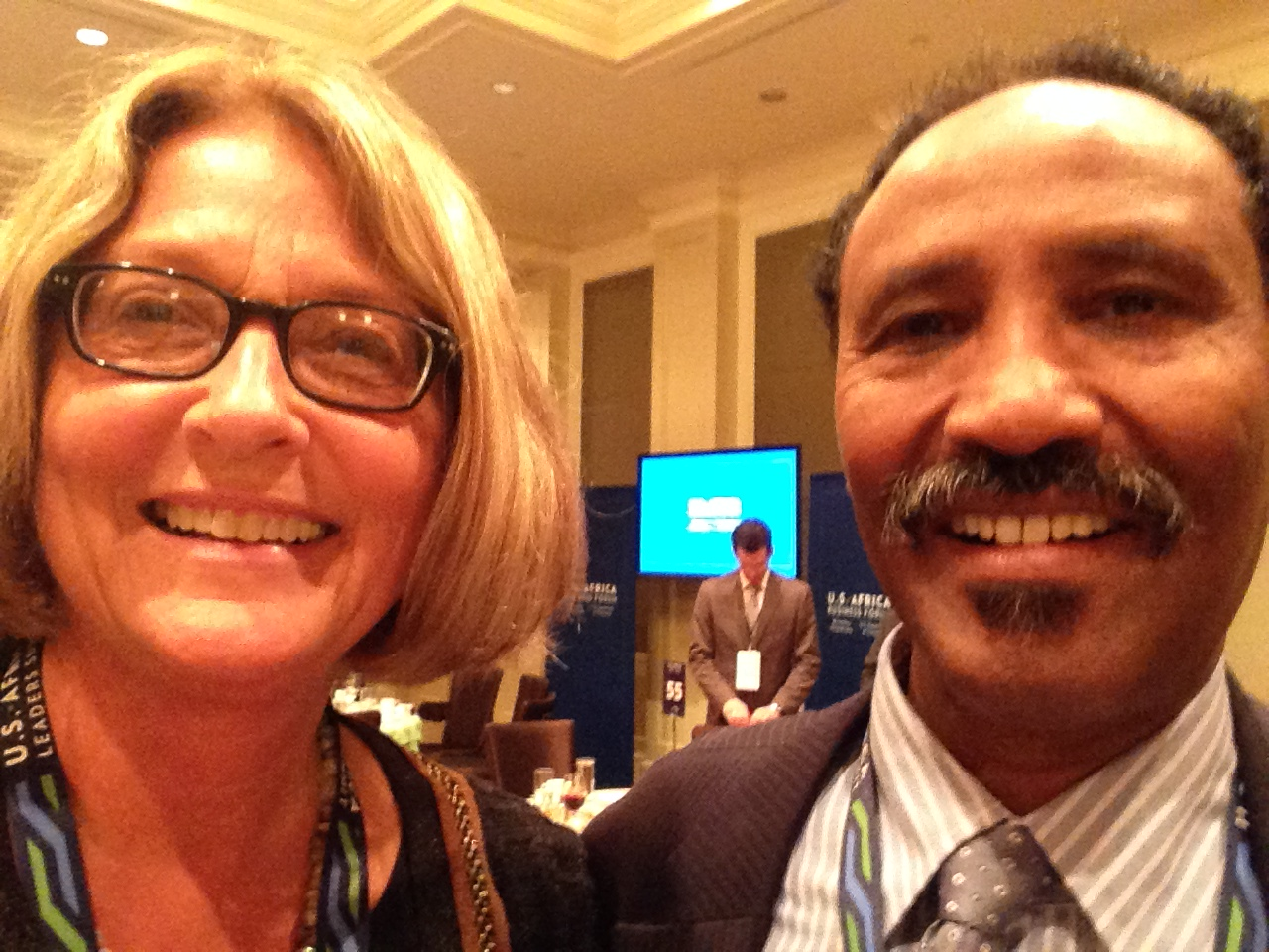 Vermeer CEO Mary Andringa with Minister of Foreigh Affairs and International Cooperation of Somalia, Mr. Abdirahman Dualeh Belleh at the recent USA-Africa Leaders Summit