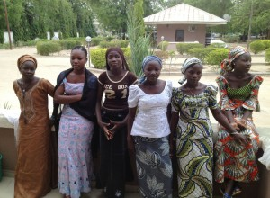 Six of the Nigerian schoolgirls who escaped Boko Haram kidnappers in April. Photo: Adam Nossiter/The New York Times