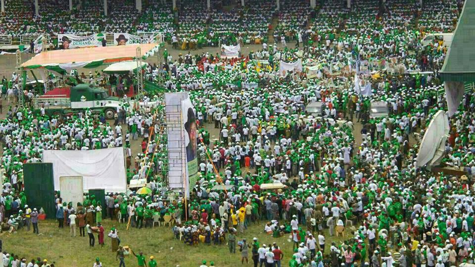 """TAN's maiden rally in Awka mobilizing """"Nigerians Demand..."""" for Goodluck Jonathan to declare for 2015 Presidency... Photo Credit: Tranformation Ambassador of Nigeria"""