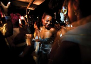 Angolans party in the Miami Beach Nightclub in Luanda. Photo: Panos/ Robin Hammond -