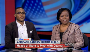 Nigerian recording artist D'Banj and Dr. Sipho Moyo, Africa Executive Director for the ONE Campaign, discuss the upcoming U.S.-Africa Leaders Summit. Clip and image courtesy of ABC This Week
