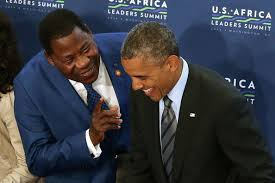 President Yaya Boni of Benin and US President Barack Obama at the recent Summit in Washington,DC