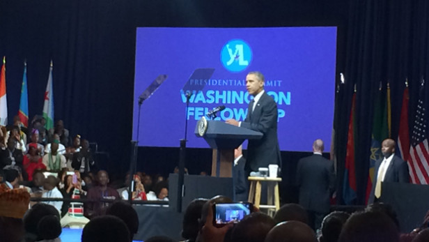 U.S. President Barack Obama at the Young African Leaders Initiative presidential summit. Photo by: Adva Saldinger