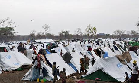 A refugee camp in Ethiopia's Gambella region Zacharias Abubeker/AFP/Getty Image