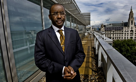 Strive Masiyiwa, CEO of Econet Wireless. Photograph: Sarah Lee for the Guardian
