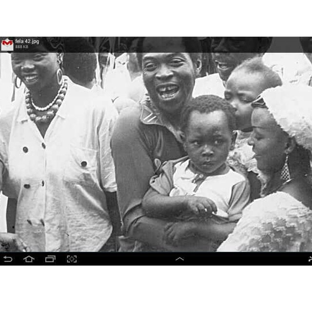 The picture was taken in 1986. Fela had been released by another Head of State, General Babangida.