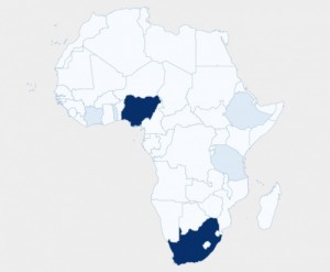 A useful tool to visualize geographical break down of Africa's demographic conversations about a press release – all on a map of Africa to give a snapshot