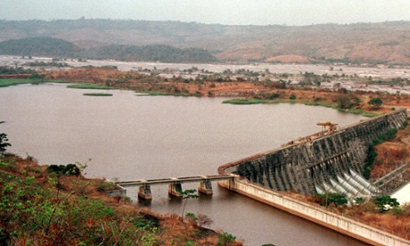 Once completed the Grand Inga dam would be the world's biggest hydropower project. Photograph: ISSOUF SANOGO/AFP