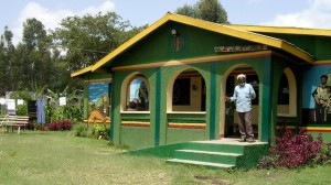 Brother Vincent Wisdom at his home next to the Rastafarian tabernacle in Shashamane