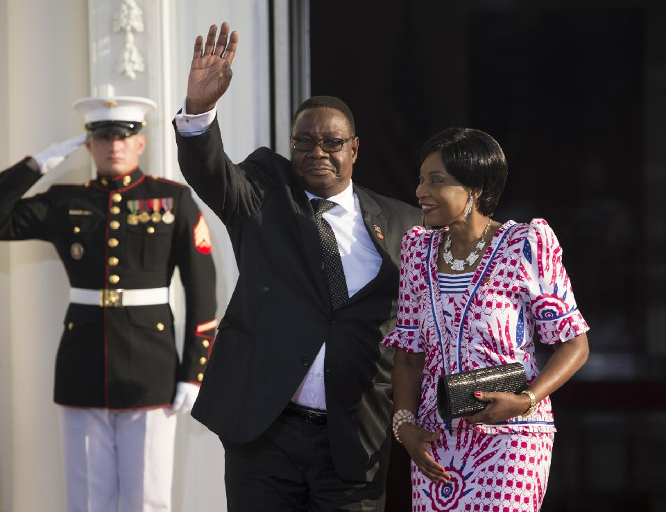 Malawi President Peter Mutharika, pictured during the US Africa Leaders Summit on August 5, 2014 in Washington, DC (AFP Photo/Brendan Smialowski)