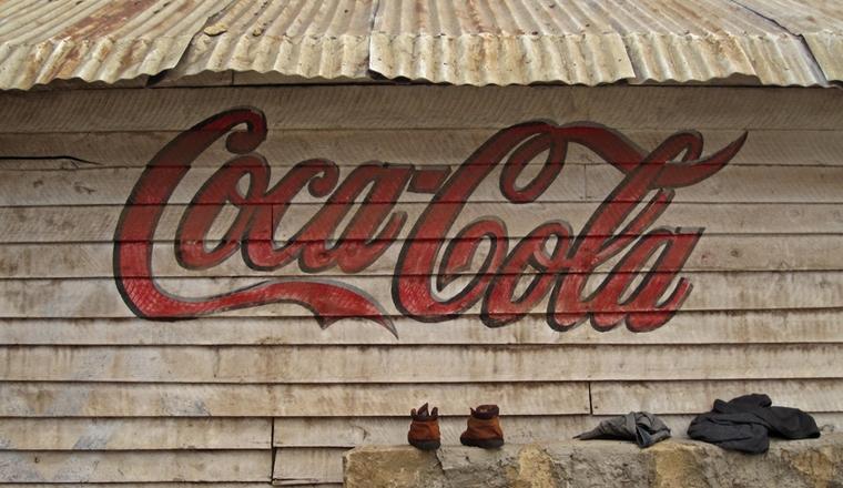 Hand-painted Coca-Cola sign in Kenya (Photo: Meena Kadri)