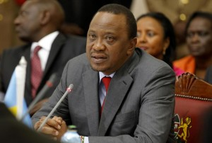 Kenyan President Uhuru Kenyatta attends a ceremony in Nairobi on May 11, 2014 (AFP Photo/)
