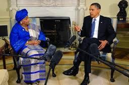 President Obama with Liberian President Sirleef Johnson