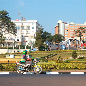 Streets of Kigali: The people keep it clean (Photo, Dylan Walters).