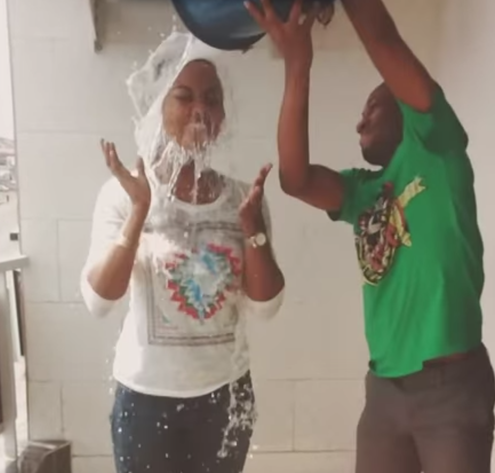 Edith Broui launched the challenge after she posted on Youtube a video of her having a bucket of ice-cold soapy water poured on her head.