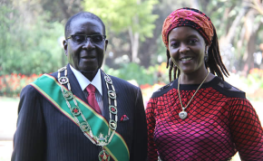 Photo: Nehanda Radio President Robert Mugabe and his wife Grace.