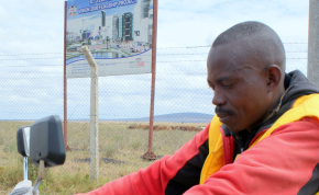 Photo: David Njagi / AllAfrica Alex Muoki is betting on Kenya's city of the future to support his motobike taxi business.