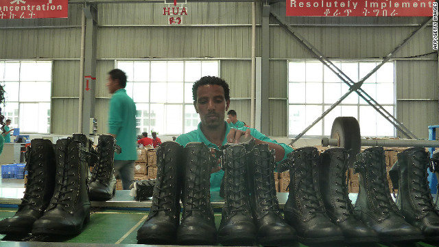 The Ethiopia-based factory exports around 20,000 pairs of shoes a month