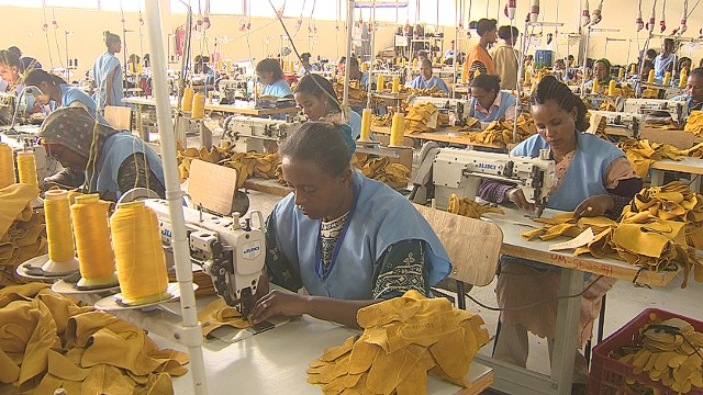 The company has opened a manufacturing plant in the country, making some of its products from sheep skin, which is unique to Ethiopia.