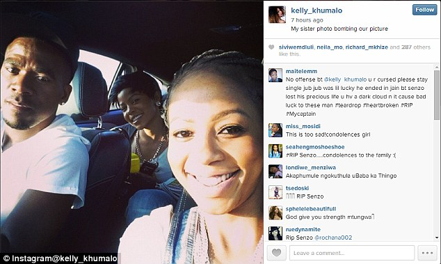 Senzo Meyiwa's girlfriend posted this picture with him on Sunday, just hours before he was shot dead
