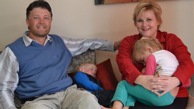 """After four months in Orania, George and Tisha van Staden say they are still adjusting to the new """"rules"""""""