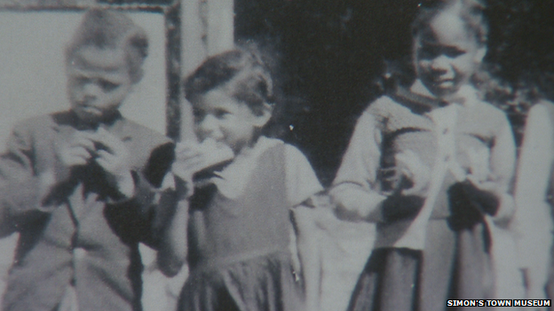 Margaret (centre) was 13 years old when they were forced out of their home