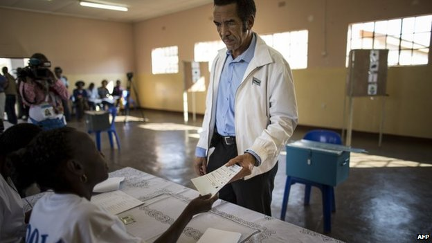 President Khama is expected to serve a second term